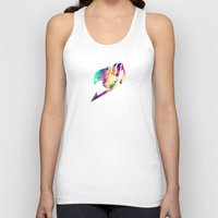 fairy tail Tank Tops featuring Galaxy Fairy Tail Logo by ZipZapAttack