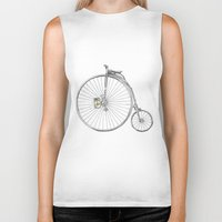 bicycle Biker Tanks featuring Bicycle by Michelle Krasny
