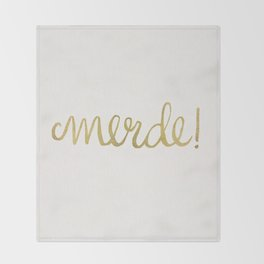 Pardon My French – Gold Ink Throw Blanket