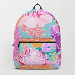 Pastel Ginger Garden in Aqua Backpack