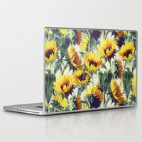 sunflowers Laptop & iPad Skins featuring Sunflowers Forever by micklyn