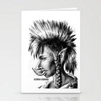 warcraft Stationery Cards featuring Punk Troll by Georgia Goddard