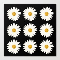 daisy Canvas Prints featuring Daisy by nessieness