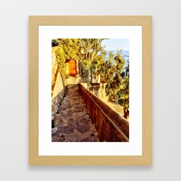 Doors to Amalfi Framed Art Print