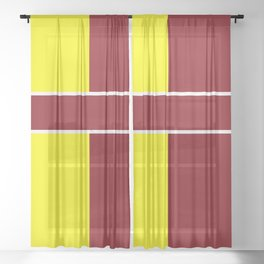 Team Colors 6....Maroon,yellow Sheer Curtain