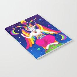 1997 Neon Rainbow Baphomet Notebook