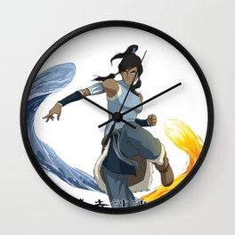 legend of korra of fire and water Wall Clock