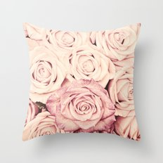 Some people grumble I Floral rose roses flowers pink Throw Pillow