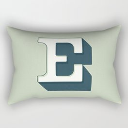 BOLD 'E' DROPCAP Rectangular Pillow