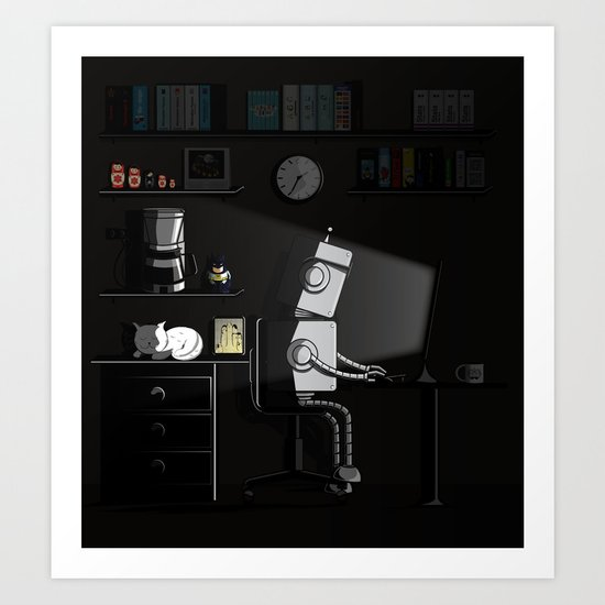 All Nighter Art Print