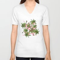 tropical V-neck T-shirts featuring tropical  by mark ashkenazi