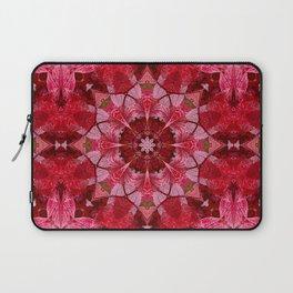 Red autumn leaves kaleidoscope - Cranberrybush Viburnum Laptop Sleeve