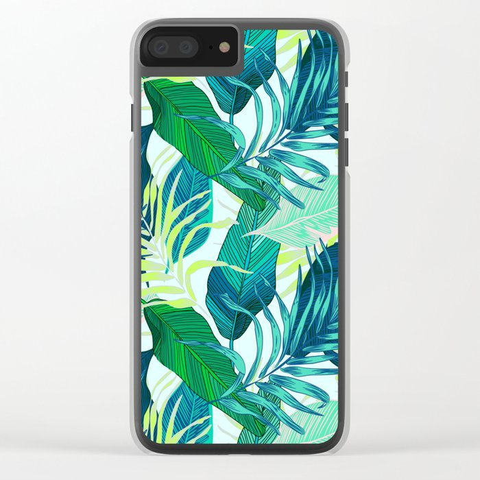 Tropical frenzy Clear iPhone Case