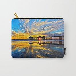 Sunset ~ Huntington Beach Pier CA  11/7/13 Carry-All Pouch