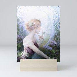 Princess in royal garden Mini Art Print