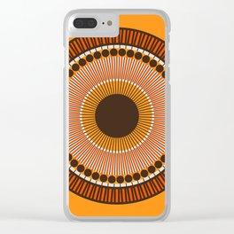 Tiger Eye Mandala Clear iPhone Case