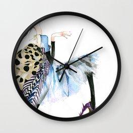 galina sokolova HER HAUTENESS Wall Clock