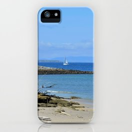 Lonely sailboat. iPhone Case