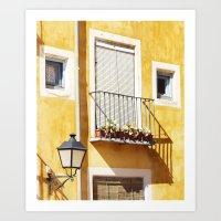 spanish Art Prints featuring Spanish balcony by AlejandraClick