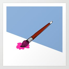 a brush for painting Art Print