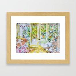 Alex's Wohnzimmer Framed Art Print