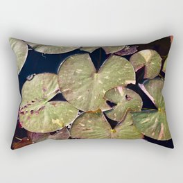 Lily Pad Facination Rectangular Pillow