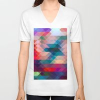triangle V-neck T-shirts featuring TRIANGLE by Hands in the Sky