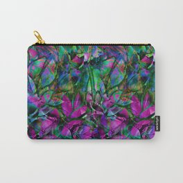 Floral Abstract Stained Glass G276 Carry-All Pouch