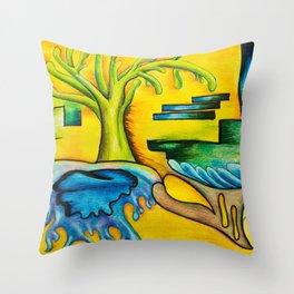 Levels - Mazuir Ross Throw Pillow