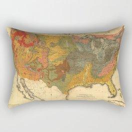Vintage United States Geological Map Rectangular Pillow