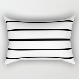 Simple Black and White Lines Decor Rectangular Pillow