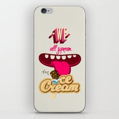 We All Scream For Ice Cream iPhone & iPod Skin