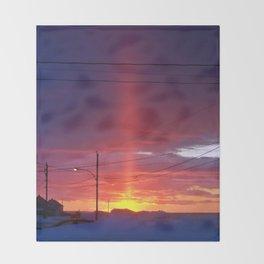 Winter Light Pillar Throw Blanket