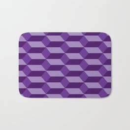 3D Purple Blocks Bath Mat