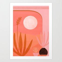 Desert Moonlight Art Print