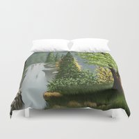 waterfall Duvet Covers featuring Waterfall by Turul
