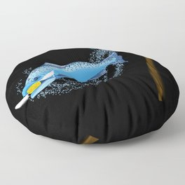 Expecto Patronum Salmon Floor Pillow