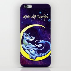 Midnight Surfer Poster iPhone & iPod Skin