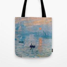 Claude Monet Impression Sunrise Tote Bag