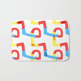 Hamster tube fun time Bath Mat