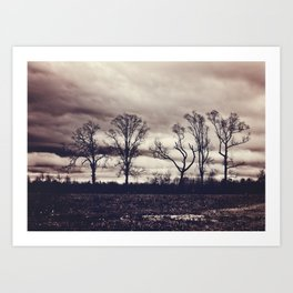 Dancing Trees Art Print