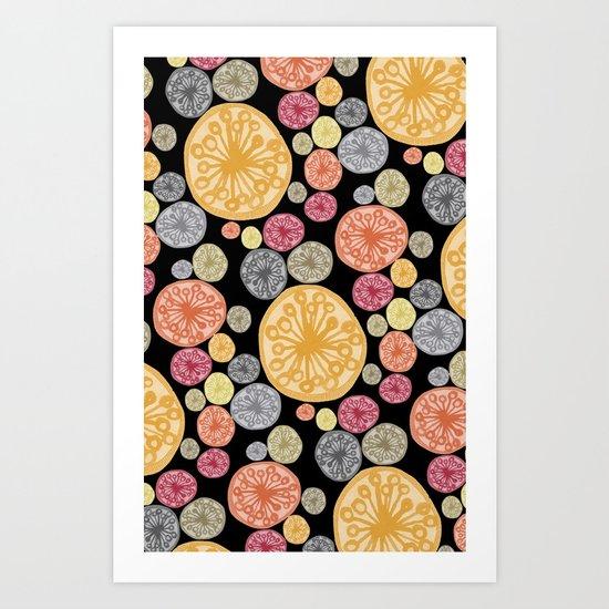 watercolor blooms Art Print