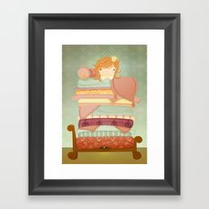 The Princess and the Pea Framed Art Print