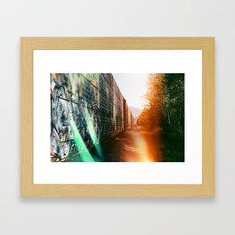 Lightleak by Railroad Framed Art Print