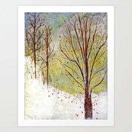 Spring Snow in Dewdrop Holler Art Print