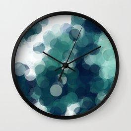 Green Bubbles #Society6 #Art #1 Wall Clock