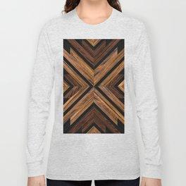 Urban Tribal Pattern 3 - Wood Long Sleeve T-shirt