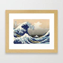 Katsushika Hokusai, The Great Wave off Kanagawa, 1831 Framed Art Print