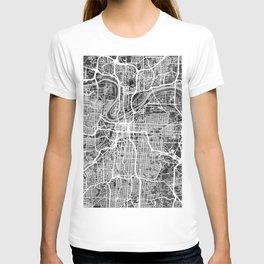 Kansas City Missouri City Map T-shirt