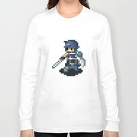 fire emblem Long Sleeve T-shirts featuring Chrom Pixels - Fire Emblem Awakening by MKwon